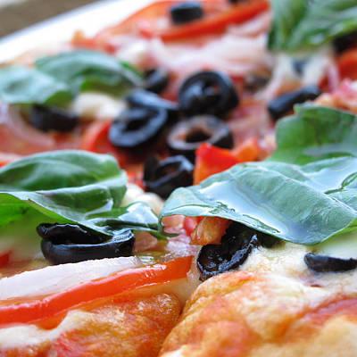Vegetarian Pizza Art Print by Keith May