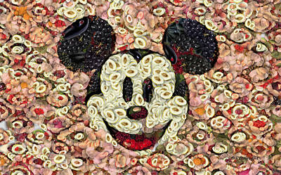 Digital Art - Veggie Mickey Mouse by Paulette B Wright