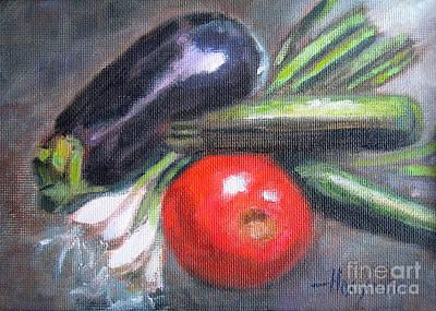 Veggies Art Print by Addie Hocynec