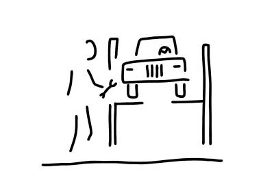 Mechanics Drawing - Vehicle Mechanic Car by Lineamentum
