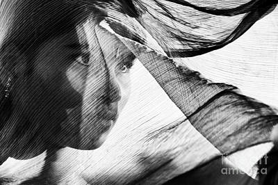 Indian Girl Photograph - Veil And Shadow  by Tim Gainey