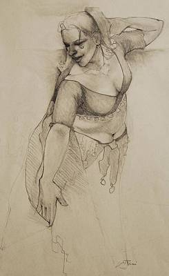 Drawing - Veil Dance by Jani Freimann