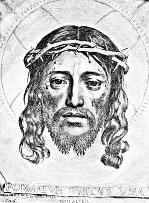 Veil Of Saint Veronica Engraving Art Print