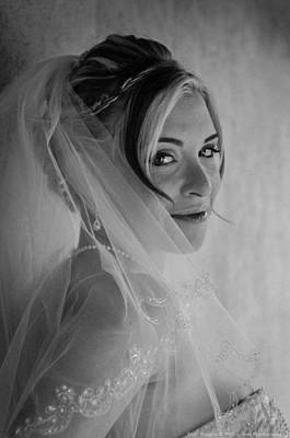 Photograph - Veiled Black And White by Teresa Blanton