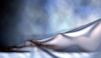 Digital Art - Veiled Nude by Kaylee Mason