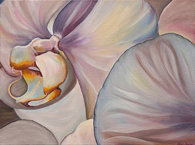 Painting - Veiled Whites by Trina Teele