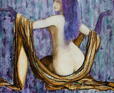 Veils To Clothe Venus With Art Print by Brenda Clews