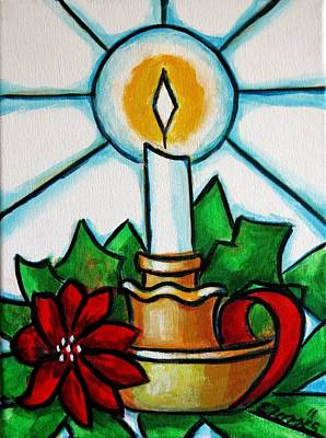 Candle Stand Painting - Velapascua by Edgar Torres