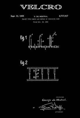 Velcro 2 Patent Art 1955 Art Print by Daniel Hagerman