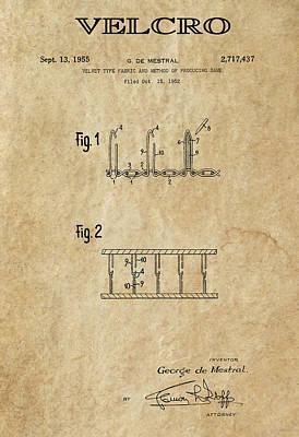 Velcro Patent Art  1955 Art Print by Daniel Hagerman