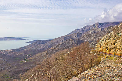 Photograph - Velebit Mountain Cliffs And Road by Brch Photography