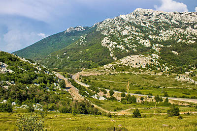 Photograph - Velebit Mountain Prezid Pass Green Landscape by Brch Photography