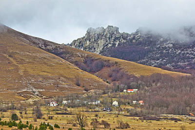 Photograph - Velebit Mountain Village In Fog by Brch Photography
