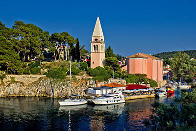 Photograph - Veli Losinj Church And Safe Harbour by Brch Photography