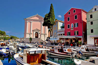 Photograph - Veli Losinj Harbor And Colorful Architecture by Brch Photography