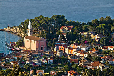 Photograph - Veli Losinj Panoramic Aerial View by Brch Photography