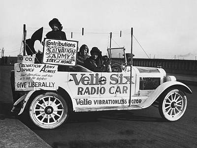 Velie Six Radio Car Art Print by Underwood & Underwood