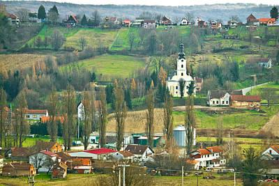 Photograph - Veliko Trojstvo Village Hill View by Brch Photography