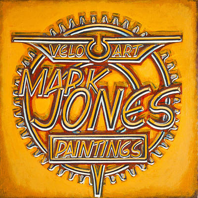 Chain-ring Painting - Velo Art Painting Orange by Mark Jones