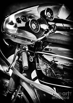 Velocette Cafe Racer Monochrome Art Print by Tim Gainey