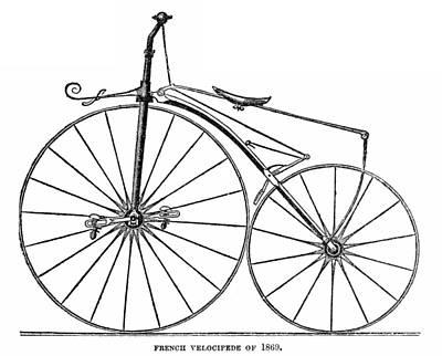 Photograph - Velocipede, 1869 by Granger