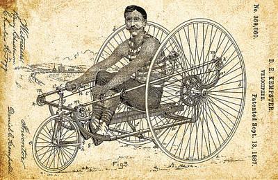 Velocipede 1887 Art Print by Bill Cannon