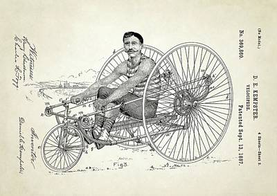Velocipede Patent Art Print by Us Patent And Trademark Office