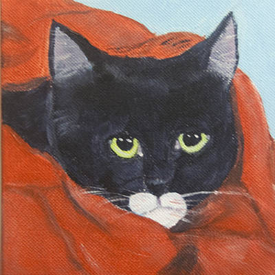 Cats Painting - Velvet by Lou Belcher