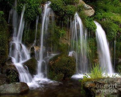 Photograph - Velvety Sierra Stream Falls by Patrick Witz