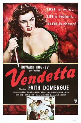 1950 Movies Photograph - Vendetta, Top Faith Domergue, 1950 by Everett