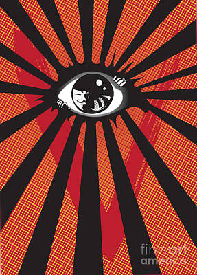Screen Digital Art - Vendetta2 Eyeball by Sassan Filsoof