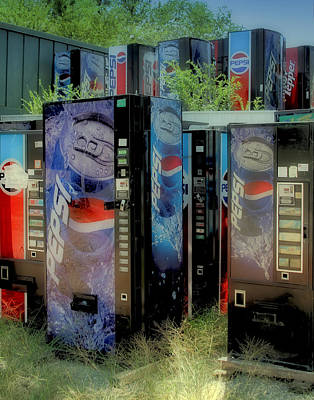 Photograph - Vending Machine Graveyard II by Tony Grider