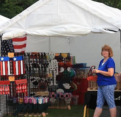 Photograph - Vendor At Hannibal  2014 by  Kathy Cornett