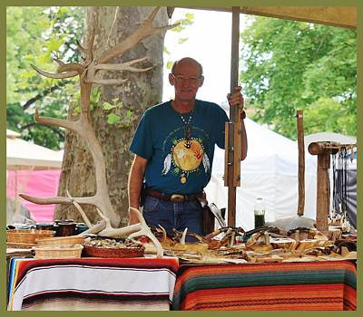 Photograph - Vendor At The July 2014 Hannibal Craft Show by  Kathy Cornett
