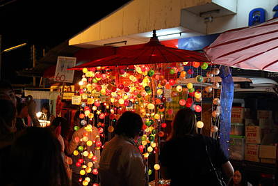 Vendors - Night Street Market - Chiang Mai Thailand - 011311 Art Print by DC Photographer