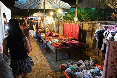 Vendors - Night Street Market - Chiang Mai Thailand - 011319 Print by DC Photographer