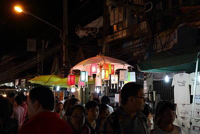 Nightime Photograph - Vendors - Night Street Market - Chiang Mai Thailand - 011322 by DC Photographer