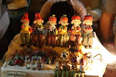 Vendors - Night Street Market - Chiang Mai Thailand - 011329 Art Print by DC Photographer