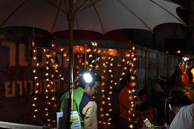Vendors - Night Street Market - Chiang Mai Thailand - 011334 Art Print by DC Photographer