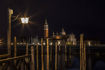 Venice San Giorgio Maggiore At Night Art Print by Melanie Viola