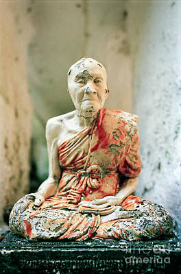 Photograph - Venerable Old Buddhist Monk by Dean Harte