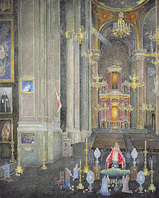Veneration Of The Virgen Del Rosario, The Convent Of San Domingo, 2001 Oil On Canvas Art Print