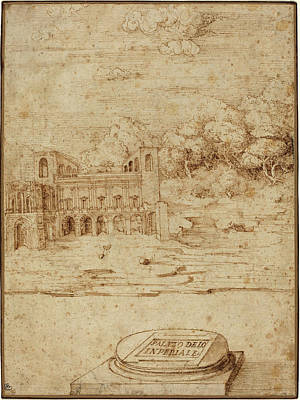 Wash Drawing - Venetian 16th Century, Probably Titian Italian by Quint Lox