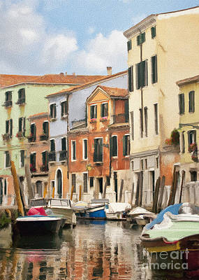 Photograph - Venetian Apartments Impasto by Sharon Foster