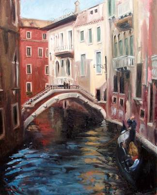 Painting - Venetian Boat Ride by Erin Rickelton