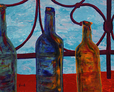 Painting - Venetian Bottles  by Oscar Penalber
