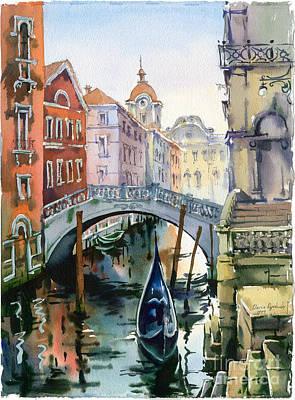 Venetian Canal Vi Original by Maria Rabinky