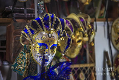 Spain Photograph - Venetian Carnival Masks Cadiz Spain by Pablo Avanzini