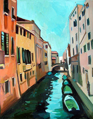 Venetian Channel Art Print by Filip Mihail