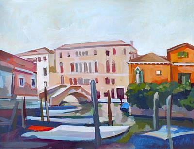 Italian Landscapes Mixed Media - Venetian Cityscape by Filip Mihail